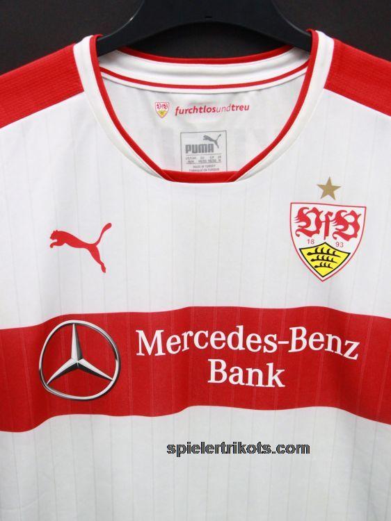 PUMA VfB Trikot schwarz rot gelb Aufschrift Mercedes Benz Bank neu mit Etikett